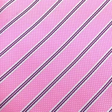 Cravate Homme Attora. Rose à rayures. 100% soie