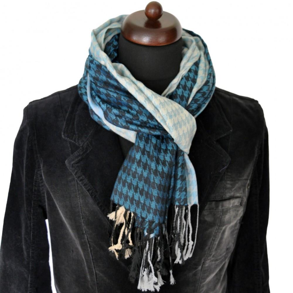 d18429b86c52 Foulard unisexe motif Pied de poule et pas cher. Accessoire à la mode