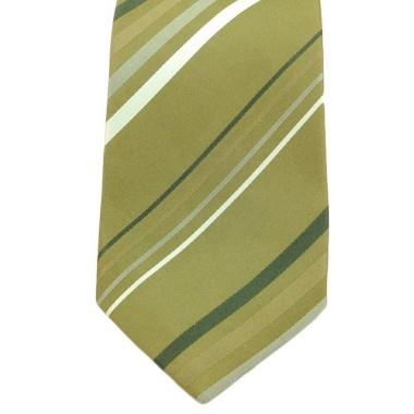 Cravate Saint Hilaire. Vert à rayures.