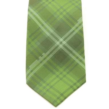 Cravate Saint Hilaire. Vert à gros carreaux.