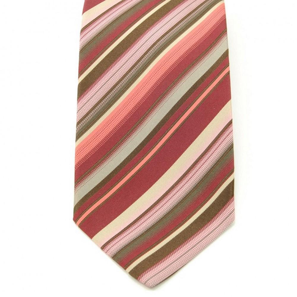 Cravate Saint Hilaire. Bordeau à rayures.