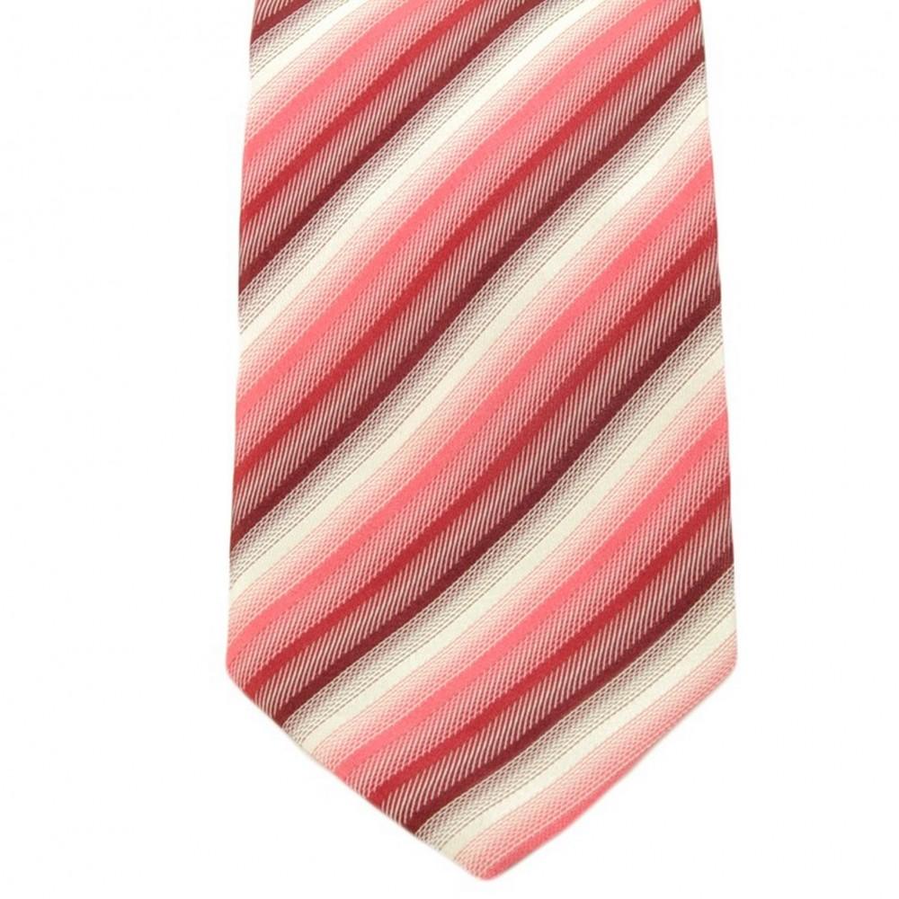 Cravate Saint Hilaire. Rouge et blanc à rayures.