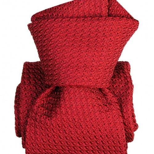 Cravate en Grenadine de Soie 'grosso'. Rouge