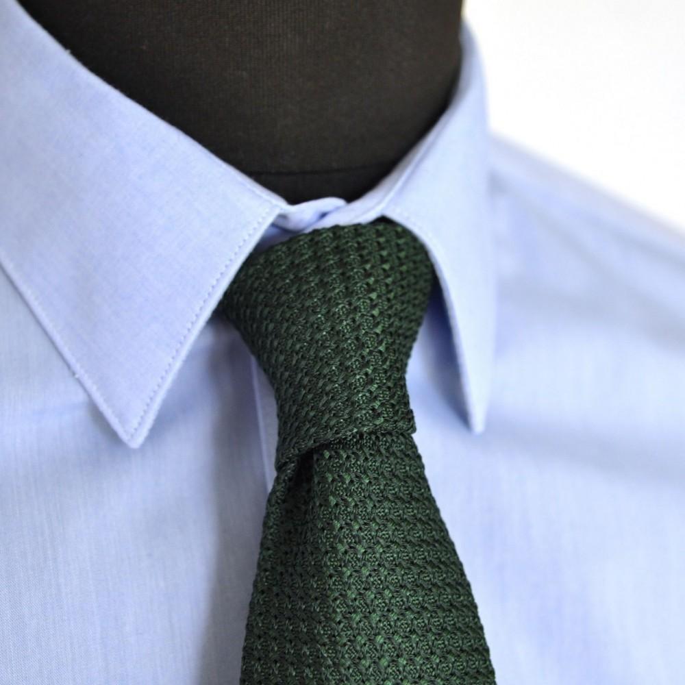 cravate grenadine de soie 39 grosso 39 vert fabriqu en italie c me. Black Bedroom Furniture Sets. Home Design Ideas