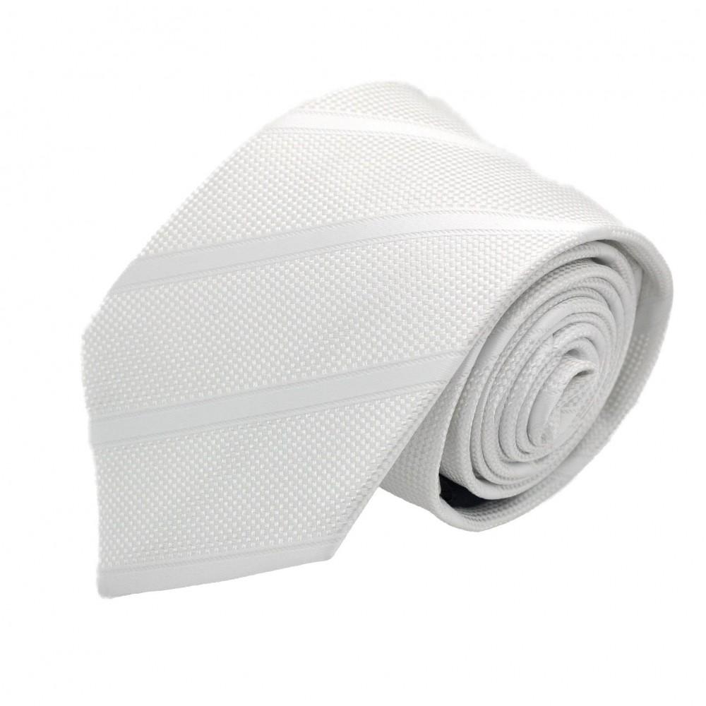 Cravate Homme Attora. Blanc à rayures.