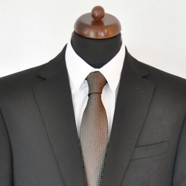 Cravate en Grenadine de Soie 'grosso'. Gris Anthracite