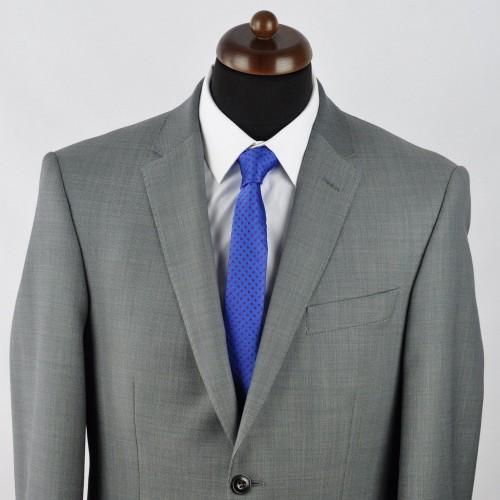Cravate Slim homme bleue à motifs. Attora.