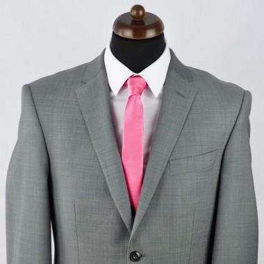 Cravate Slim homme rose striée. Attora.