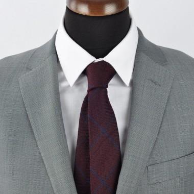 Cravate Homme en Laine. Bordeaux
