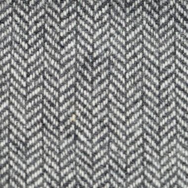 Ensemble Noeud papillon et Pochette assortie, gris en laine mélangée.