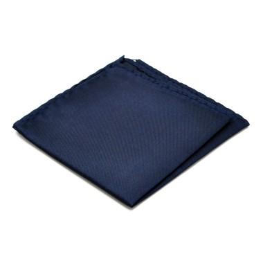 Pochette de costume. Bleu marine uni.