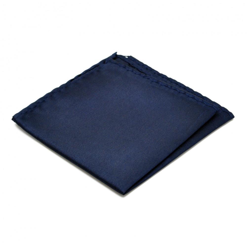 pochette de costume en soie bleu marine uni qualit et pas cher. Black Bedroom Furniture Sets. Home Design Ideas