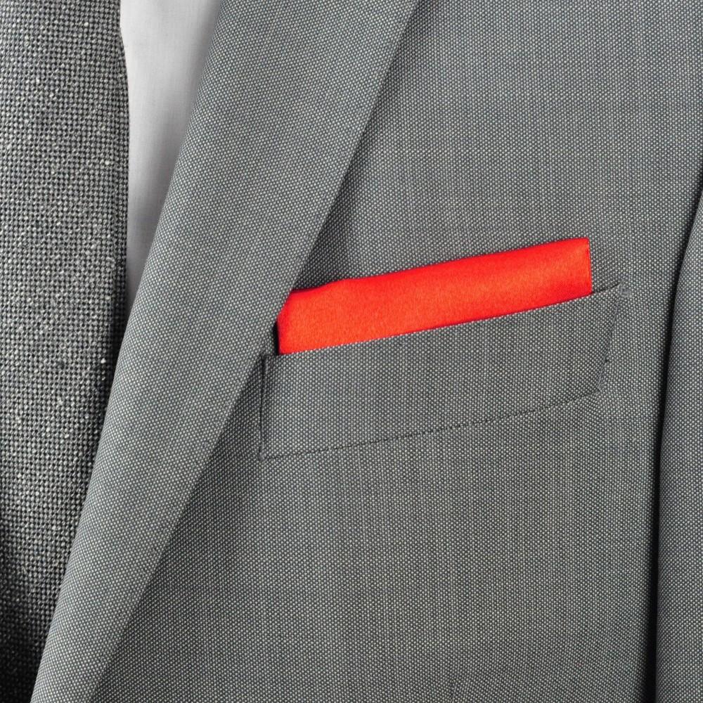 pochette de costume en soie rouge uni qualit et pas cher. Black Bedroom Furniture Sets. Home Design Ideas