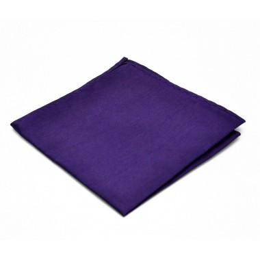 Pochette de costume. Violet foncé (Aubergine) uni, en soie.
