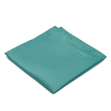 Pochette de costume. Vert d'eau uni.