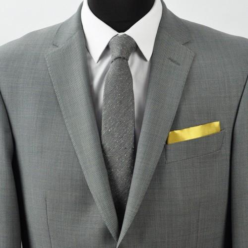 Pochette de costume. Vert mousse uni.