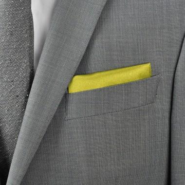 Pochette de costume. Vert olive uni.