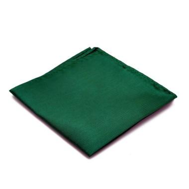 Pochette de costume. Vert bouteille uni.