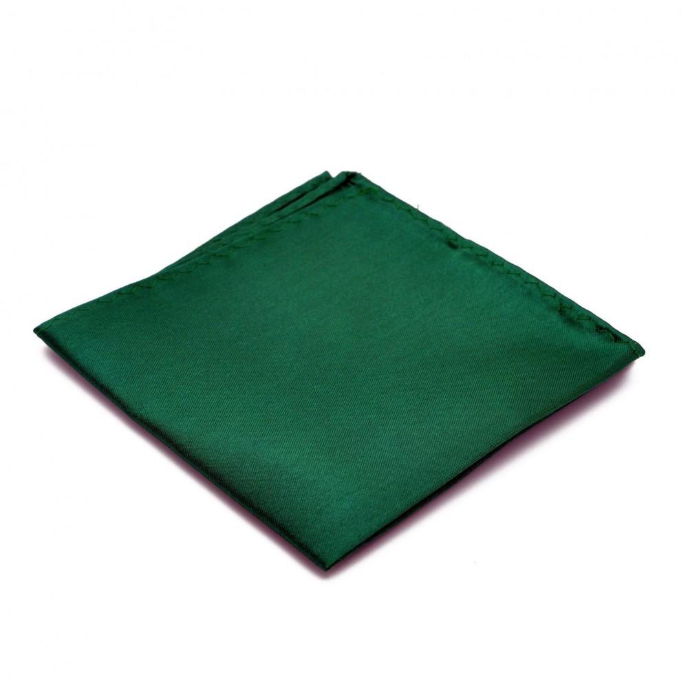 Pochette de costume. Vert bouteille uni