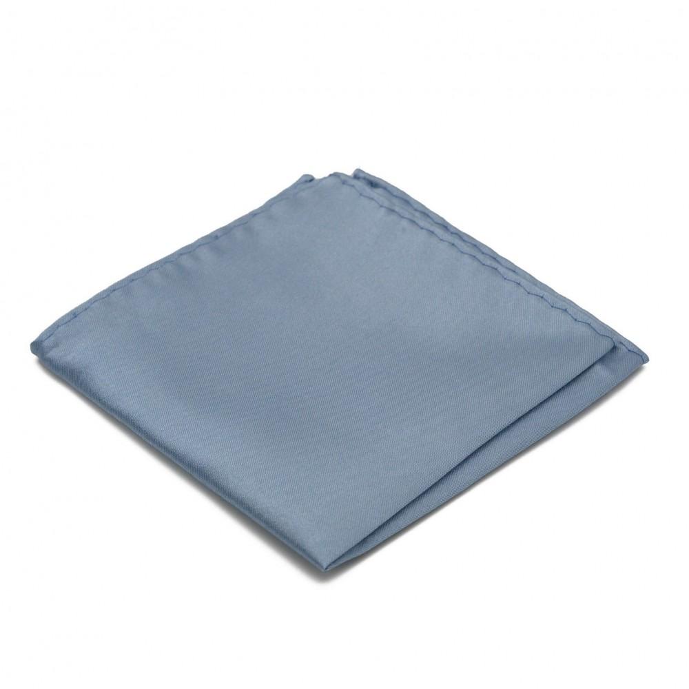 Pochette de costume. Gris bleuté uni.