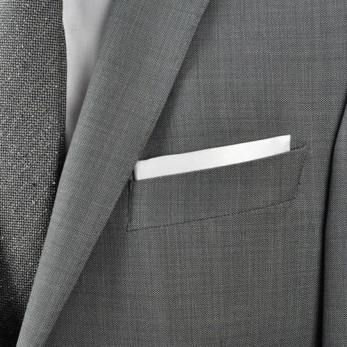Pochette de costume. Blanc uni.