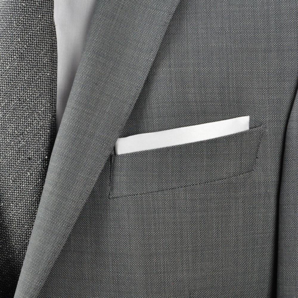 pochette de costume en soie blanc uni qualit et pas cher. Black Bedroom Furniture Sets. Home Design Ideas