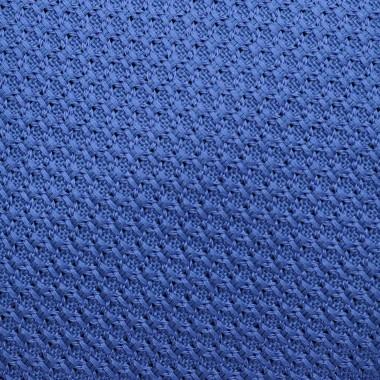 Cravate en Grenadine de Soie 'grosso'. Bleu