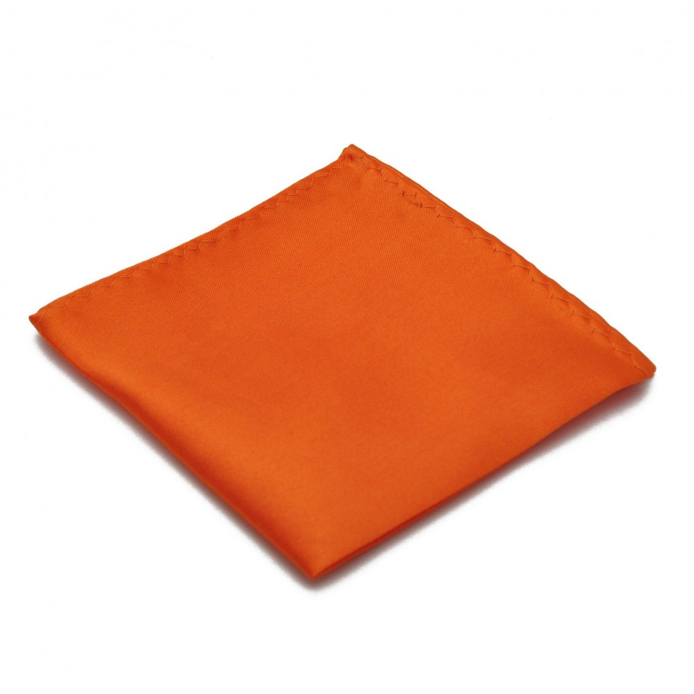 Pochette de costume. Orange uni.
