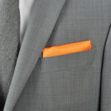 Pochette de costume. Orange uni.