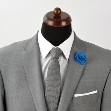 Broche Bleue Canard pour boutonnière de costume homme.