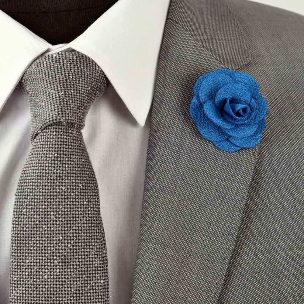 broche pour boutonni re de costume homme bijou de mode bleu canard. Black Bedroom Furniture Sets. Home Design Ideas