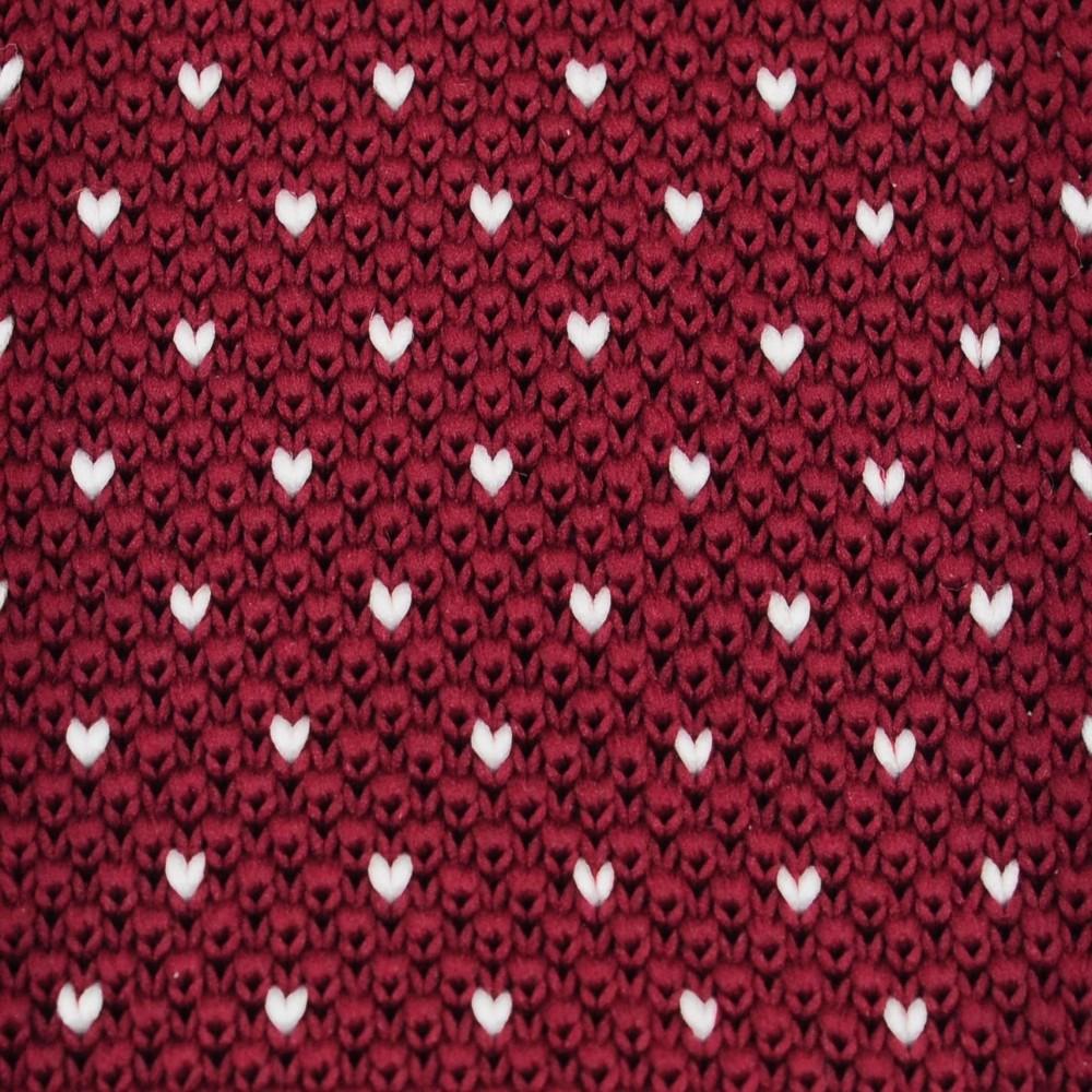 03c9ea463498c Cravate Tricot Bordeaux à pois blancs. Accessoire mode homme Pas Cher.