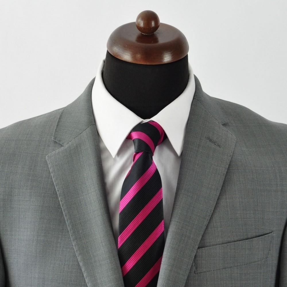 Cravate homme classique moderne et pas cher noir - Cravate noire homme ...