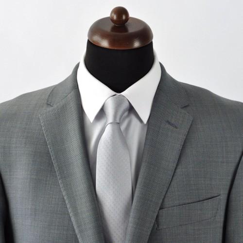 Cravate Homme Classique. Gris à pois beiges