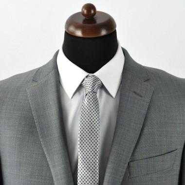 Cravate Slim homme Grise à motifs