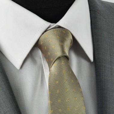 Cravate Slim homme Beige à motifs