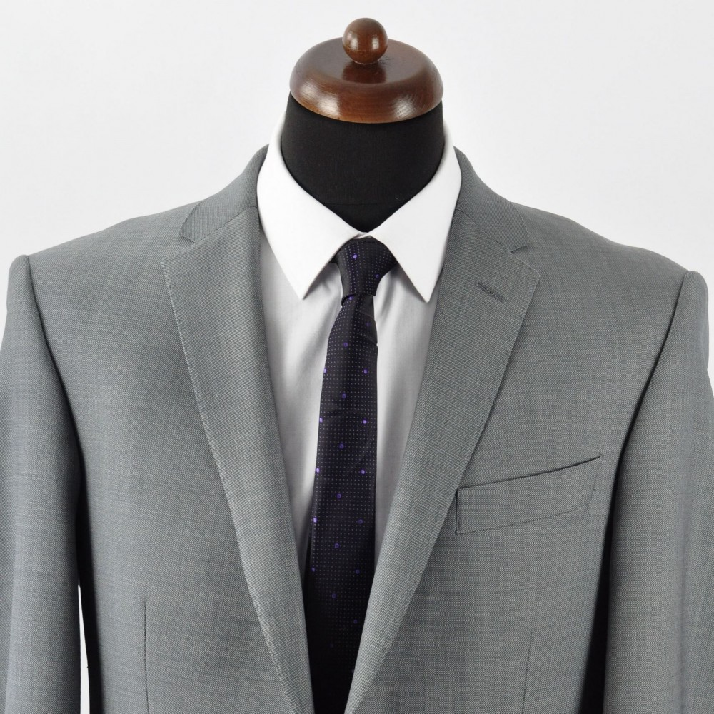 Cravate slim homme de qualit mode et pas cher noire pois violet - Cravate noire homme ...