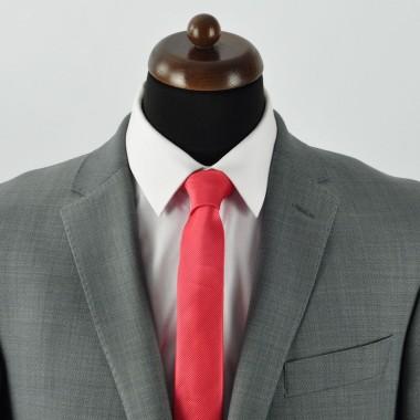 Cravate Slim homme Pêche strié
