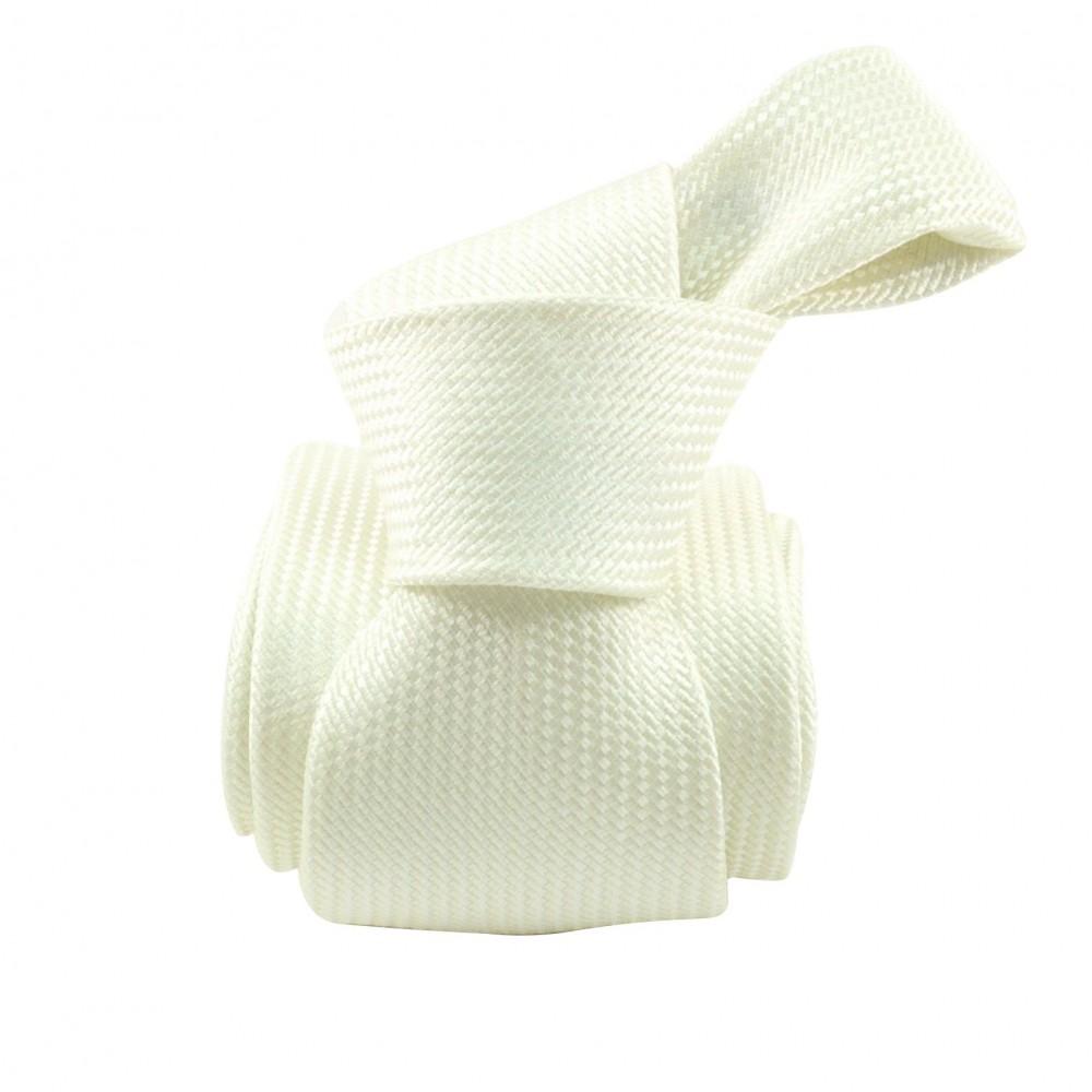 Rochas. Coffret cravate & boutons de manchette. Blanc.