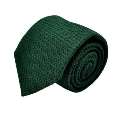 Cravate en Grenadine de Soie 'grosso'. Vert