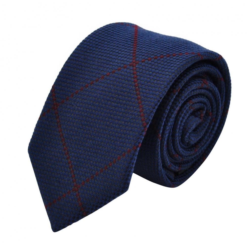 Cravate Homme en Laine. Bleu marine