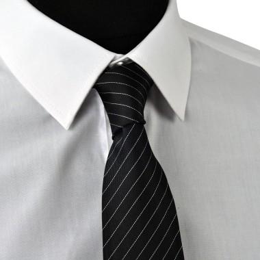 Cravate Enfant. Noir à rayures blanches