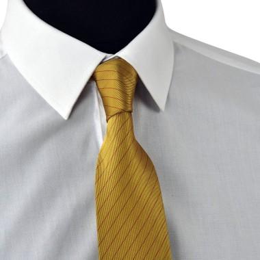 Cravate Enfant Jaune Or à rayures rouges.