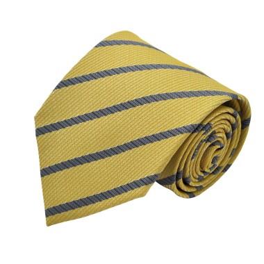 Cravate classique Jaune à rayures.