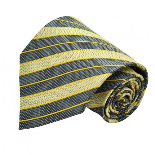 Cravate classique Vert à rayures.