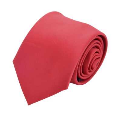 Cravate Attora. Rouge uni. Classique