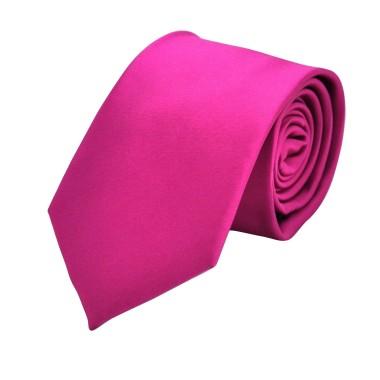 Cravate Attora. Fuchsia uni. Classique