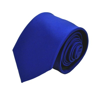 Cravate Homme Attora. Bleu uni.