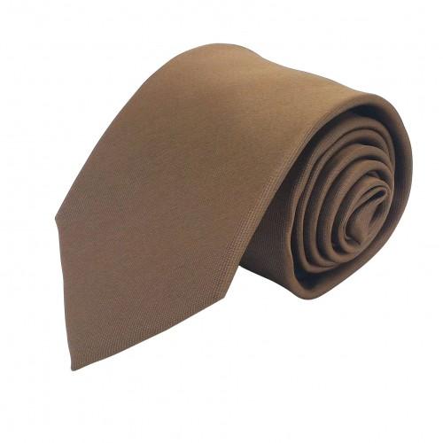 Cravate Homme Attora. Marron uni. 100% soie