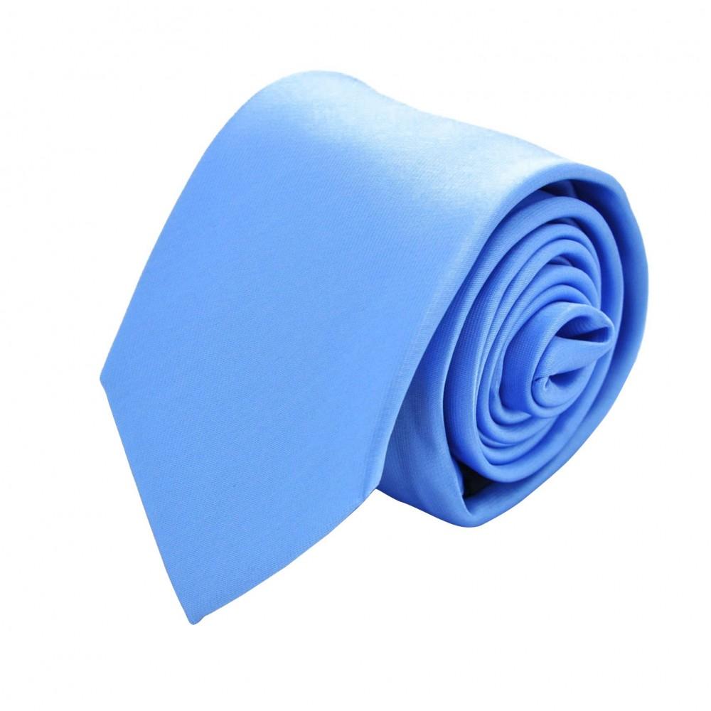Cravate Homme Attora. Bleu ciel uni. 100% soie